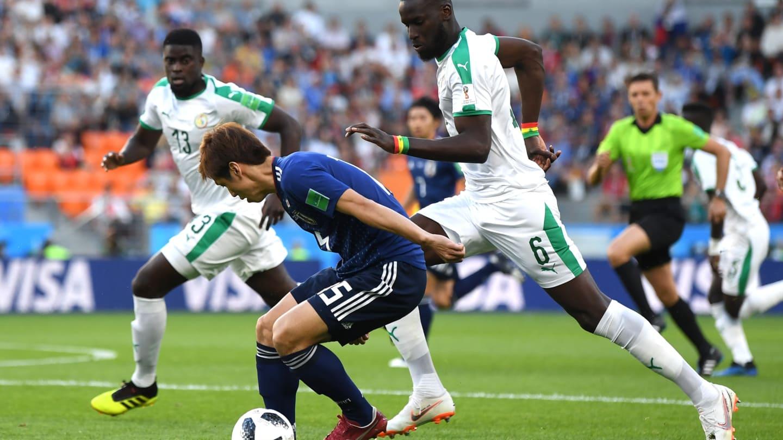 """Photos : Salif Sané; le fighting spirit d'un """"Lion"""" face aux Japonais"""