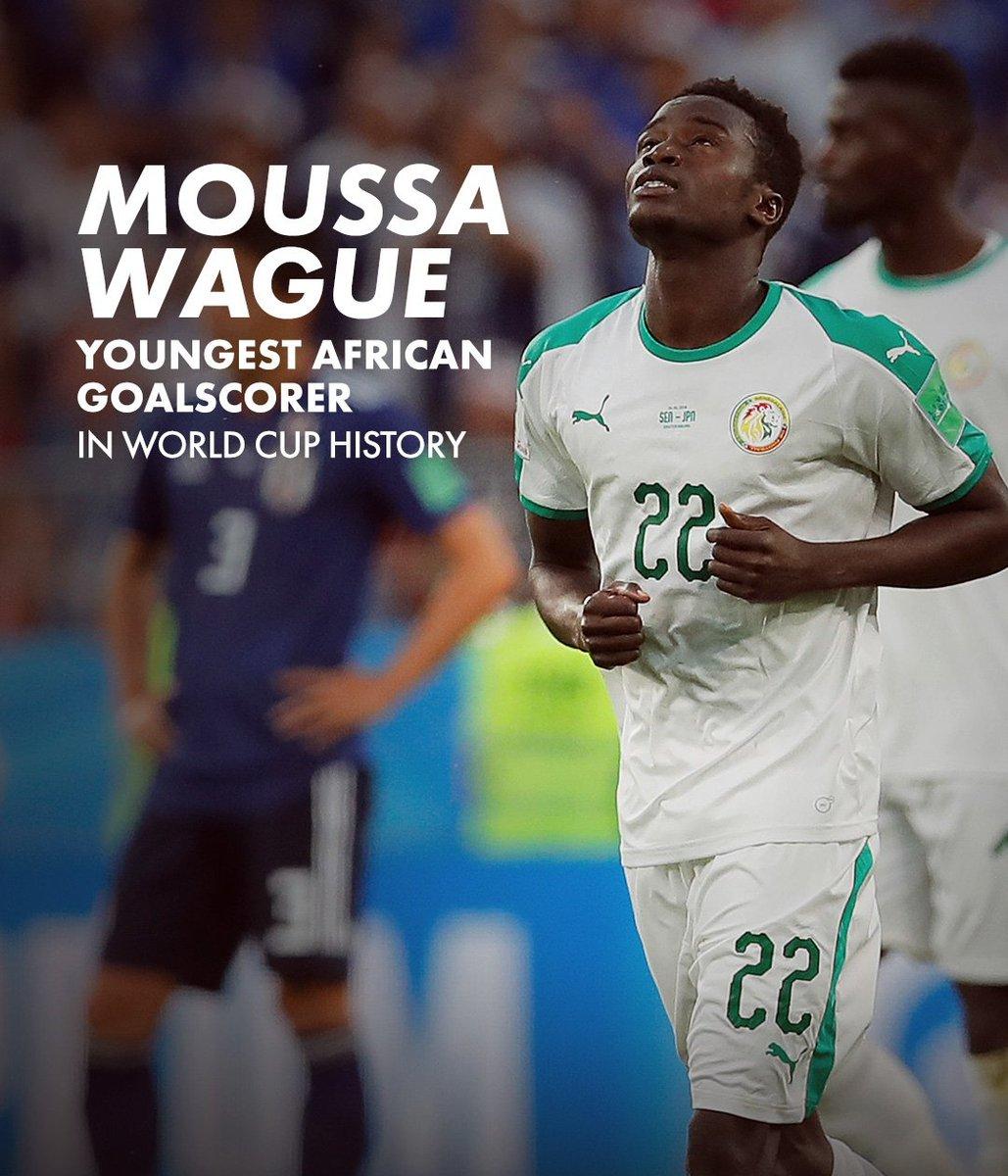 Moussa Wagué devient le plus jeune buteur africain en Coupe du monde