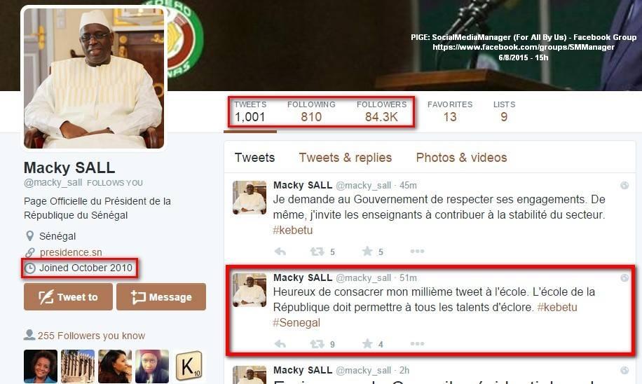 Imitation de l'identité visuelle de Macky sur Twitter: la présidence de la République apporte ses précisions