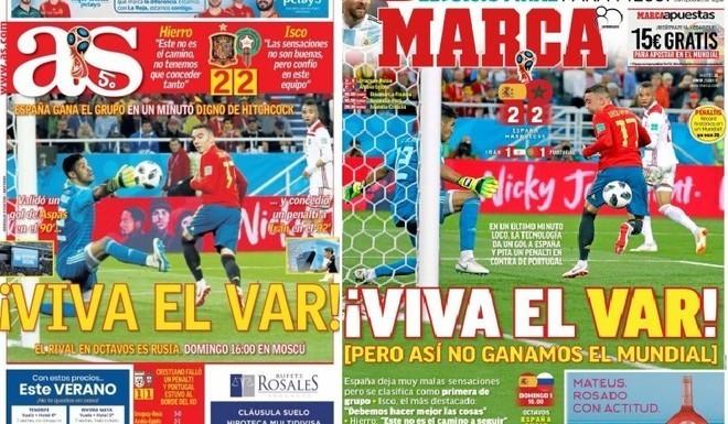 """Maroc-Espagne. La presse ibérique: """"Viva El VAR !"""""""