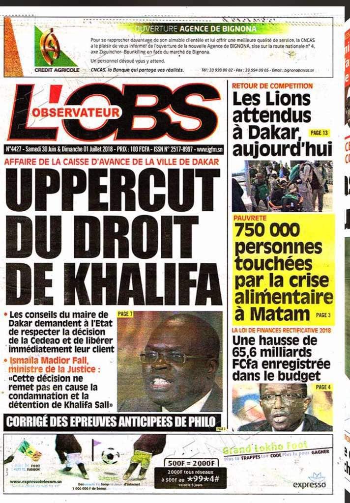 Affaire Khalifa Sall : La vérité sur la décision de la CEDEAO