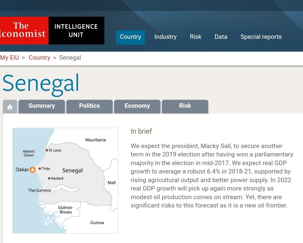 """Selon """"The Economist Intelligence Unit"""", Macky Sall aura un second mandat"""