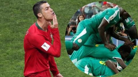 Ronaldo en mode 12e Gaïndé, encourage les lions de la Téranga !