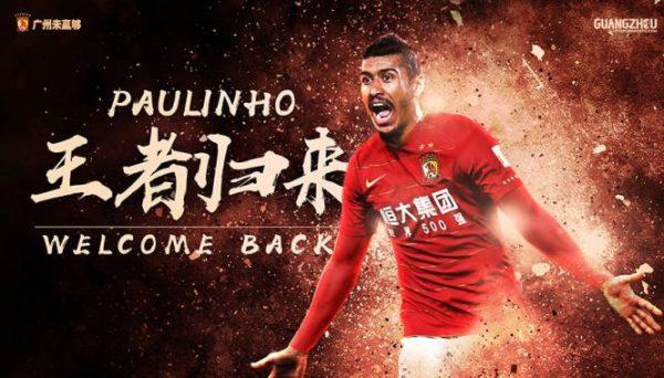 Paulinho retourne officiellement en Chine