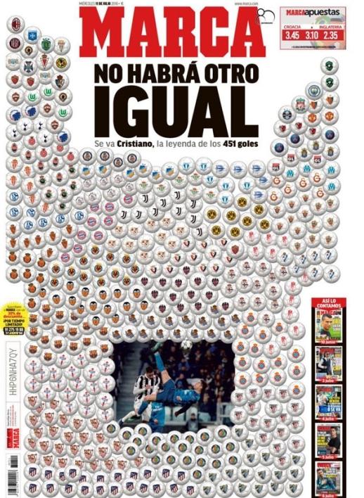 La superbe Une de Marca après le départ de Ronaldo