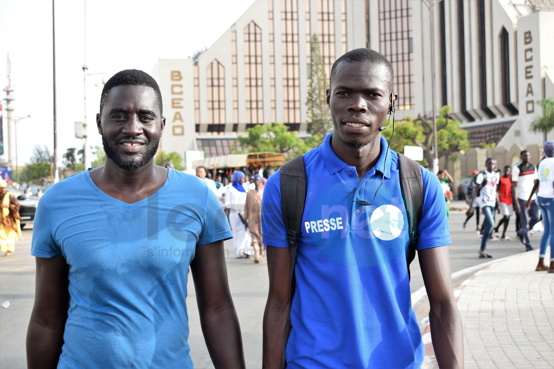 Photos : les journalistes et les techniciens à la marche de l'opposition