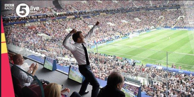 France-Croatie: la joie (pas du tout contenue) d'Emmanuel Macron