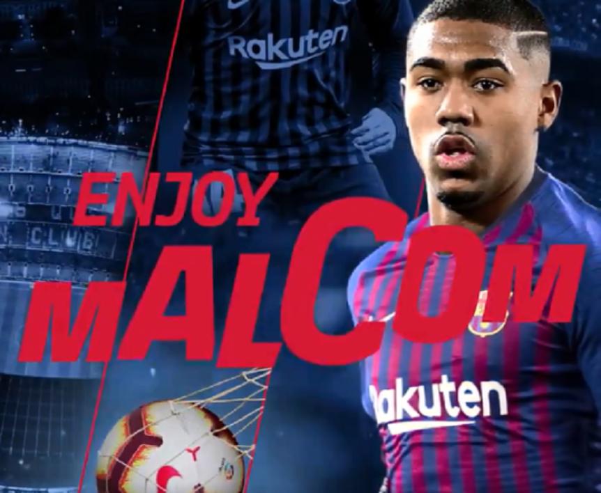 Le Barça officialise le recrutement de Malcom