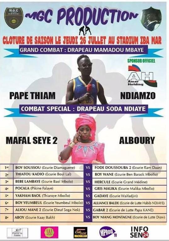 Rediffusion : Le Grand Combat de Lutte Drapeau Modou Mbaye en direct HD sur leral