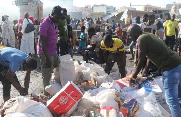 Incendie du marché Petersen: Plus de 400 cantines consumées, des centaines de millions réduits cendre