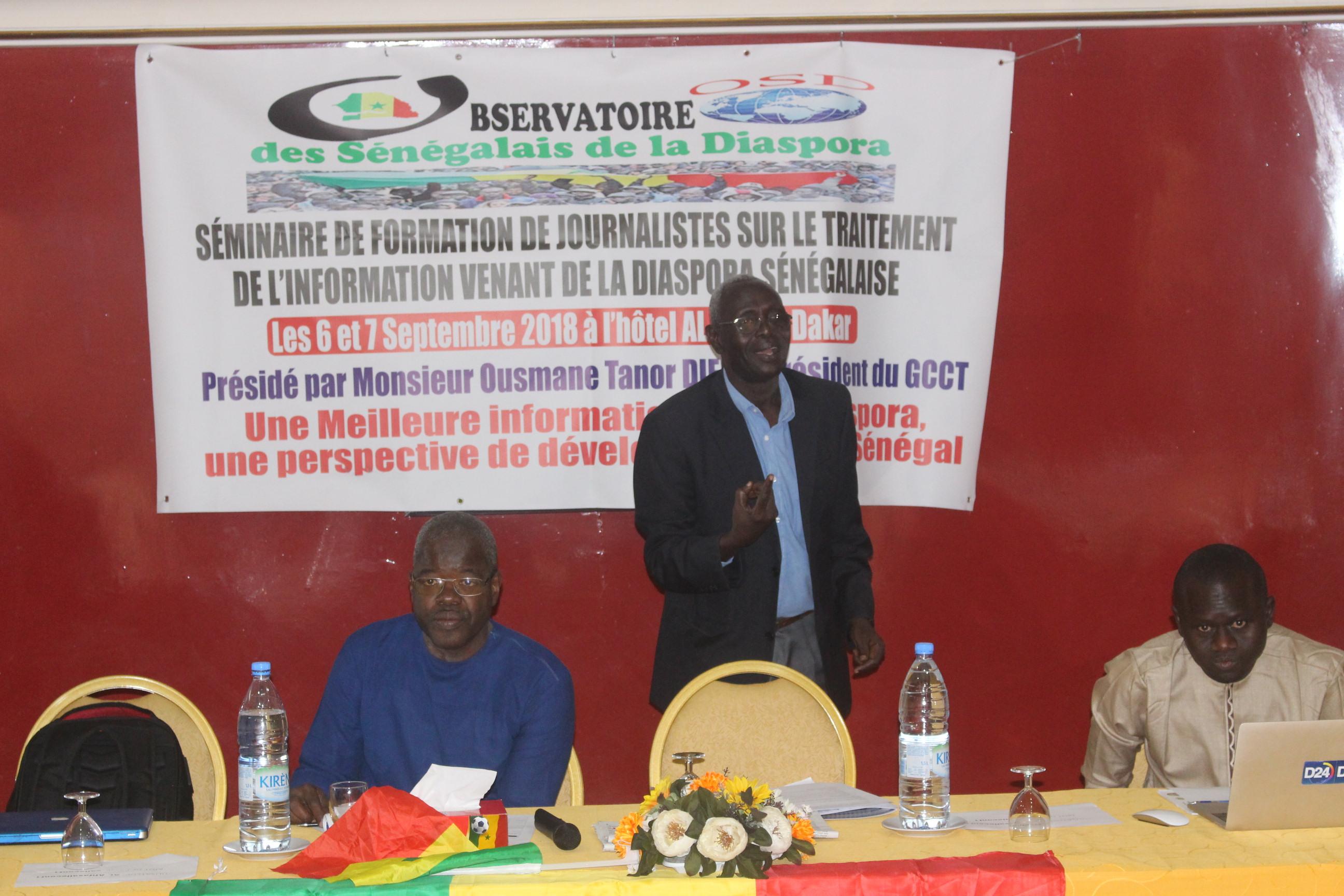 L'Observatoire des Sénégalais de la Diaspora initie  un atelier avec les journalistes sur l'information des diasporas sénégalaises