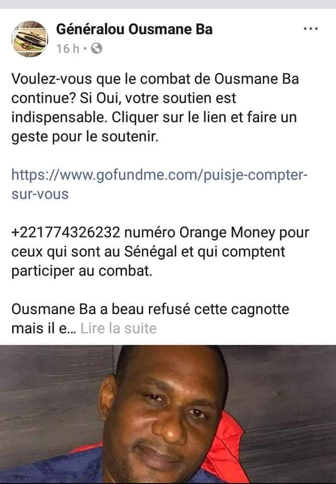 Voici Pourquoi Ousmane Ba a arrété ses lives ?