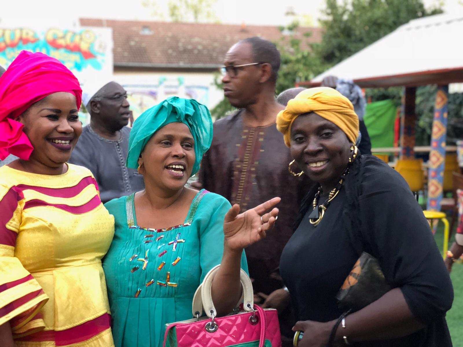 """Les images de la rencontre avec Mme Ndèye Nar Thiam de Genève """"Le Partage Guestou Diaspora"""" au 3,rue Émile Dunière à Villeurbanne"""