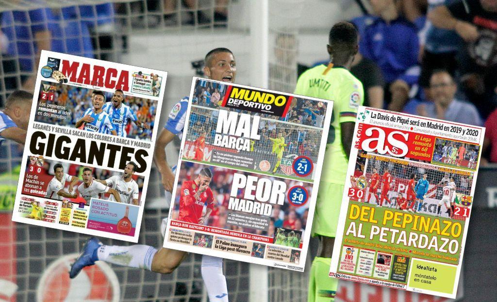 Le Real et le Barça au tapis, onde de choc dans la presse Espagnole