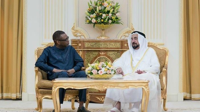 Emirats Arabe Unis : Youssou Ndour reçu par son altesse Sheikh Dr. Sultan bin Mohamed Al Qasimi