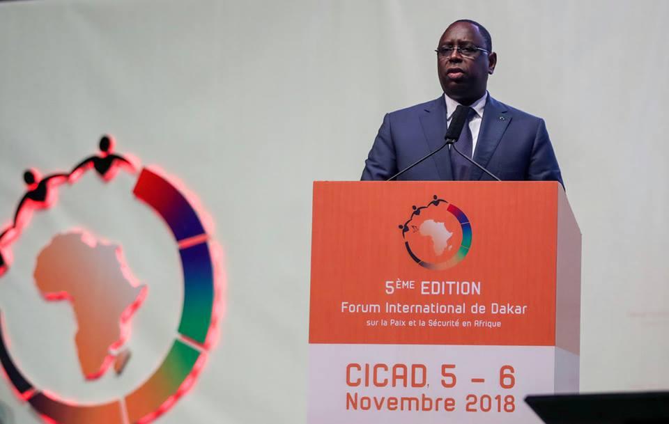 5e EDITION FORUM PAIX ET SÉCURITÉ: L'Intégralité du discours du Président Macky Sall