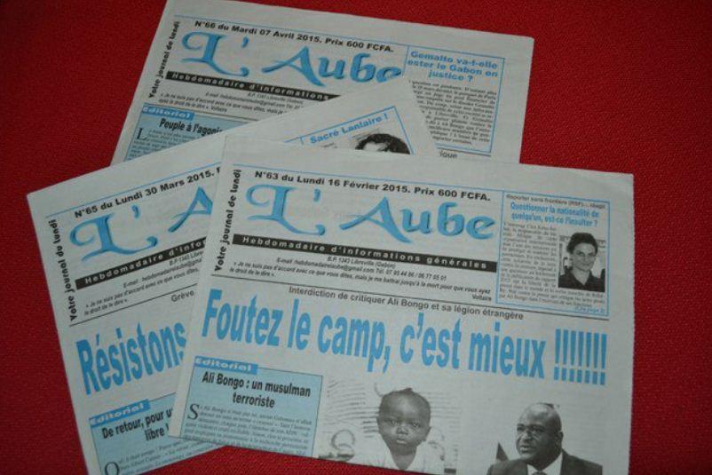 """Gabon : Le journal """"L'Aube"""" suspendu pour avoir écrit sur sa santé de Bongo"""