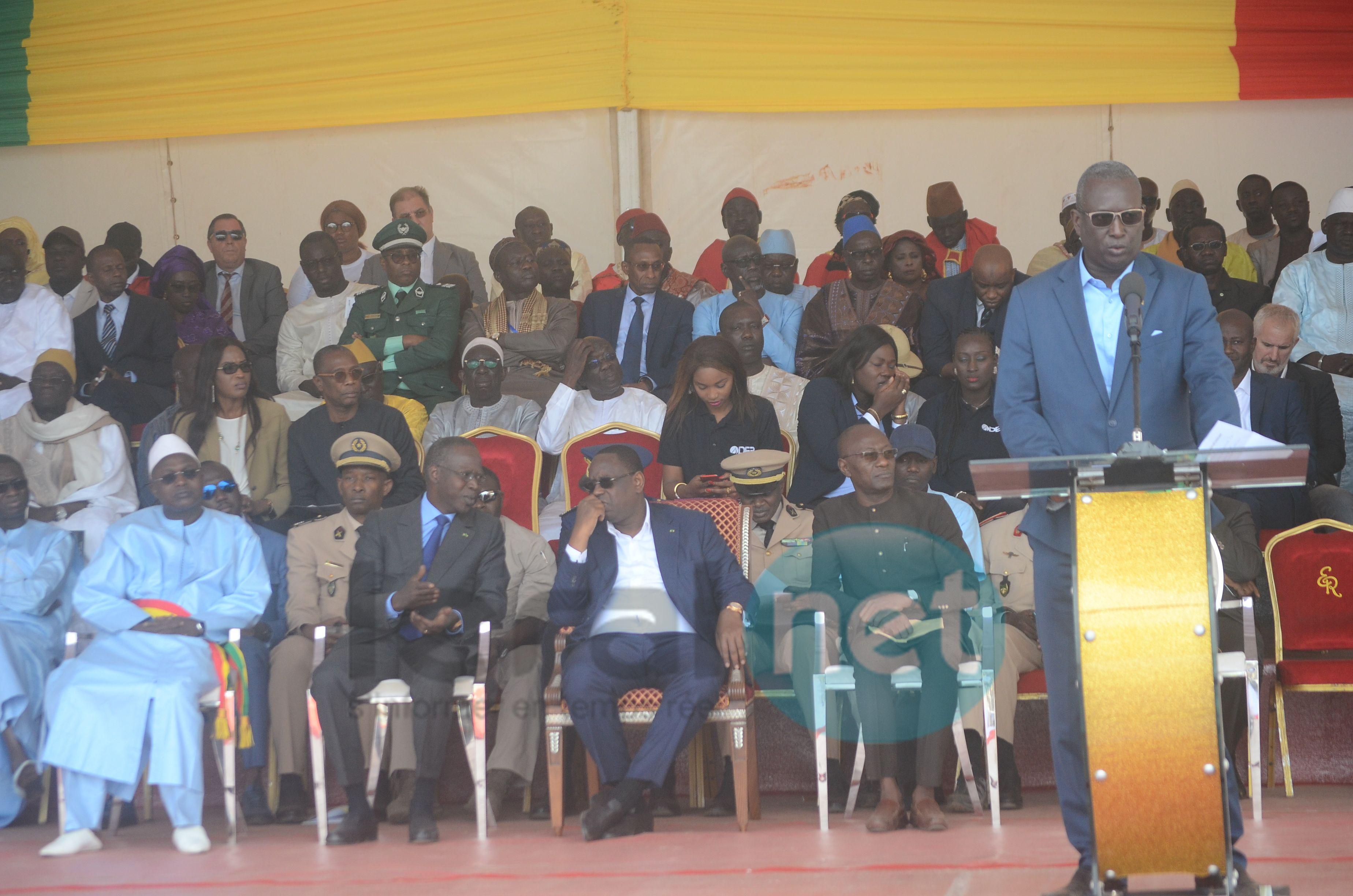 Photos -  Lancement du Domaine agricole communautaire (DAC) de Sangalkam par le Président Macky Sall en présence de Oumar Guèye