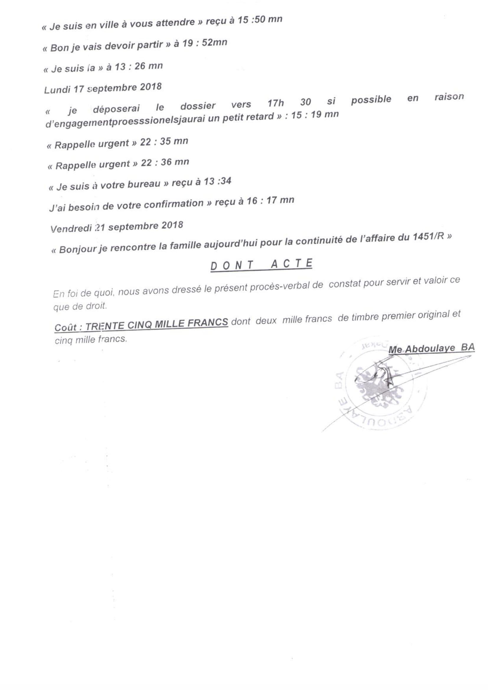 Ousmane Sonko au coeur d'un scandale - Voici les  effarants sms du bras droit du leader du parti Pastef, Abdourahmane Baldé, envoyés à l'homme d'affaires Tahirou Sarr!