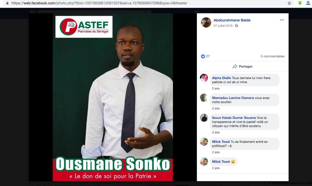 Voici le facebook de Abdourahmane Baldé Juriste-Fiscaliste, à AB Partners - SAS