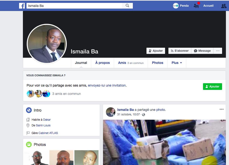 Voici Ismael Ba l'autre prête nom de Ousmane Sonko