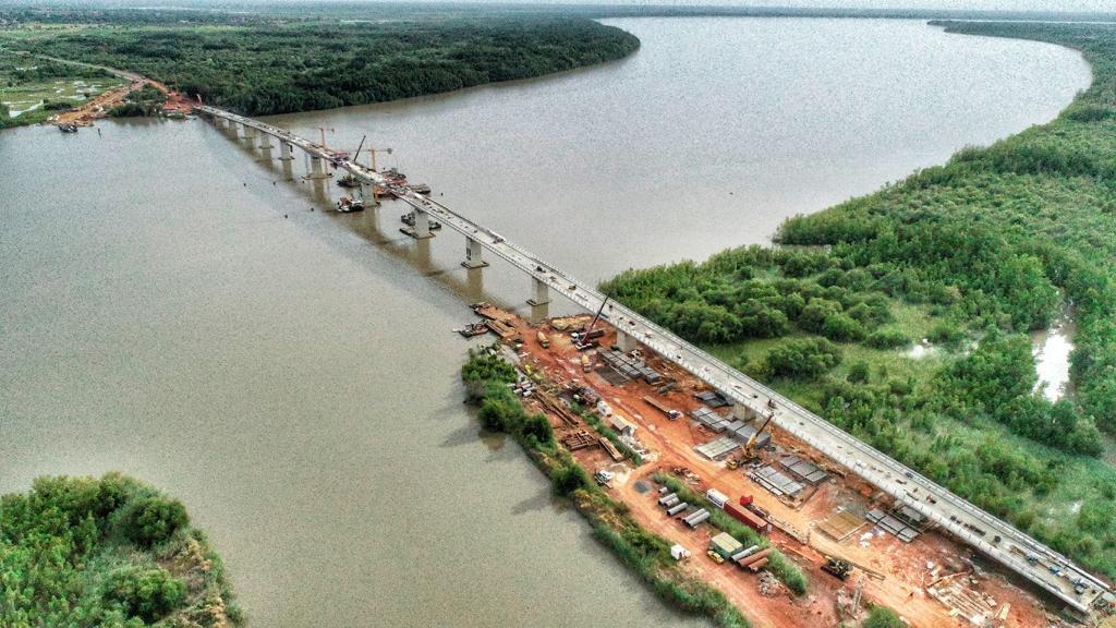 Voici le pont qui rallie le Sénégal à la Gambie