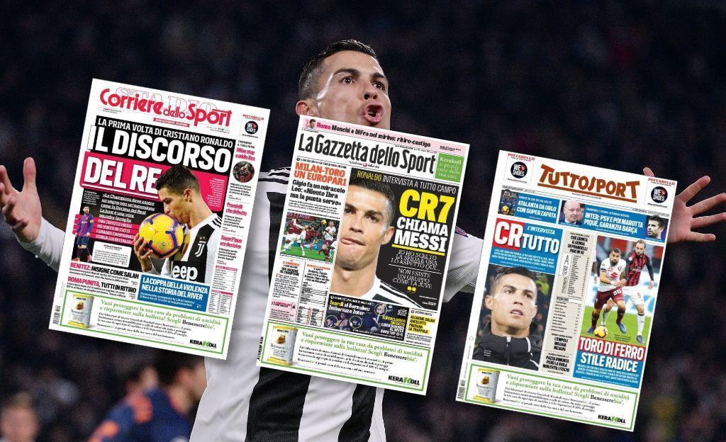 Ronaldo invite Messi à jouer en Italie