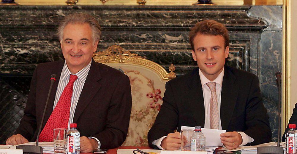 Jacques Attali lorsqu'il présidait la commission pour la Libération de la croissance française, dont Emmanuel Macron était co-rapporteur© Sipa Press