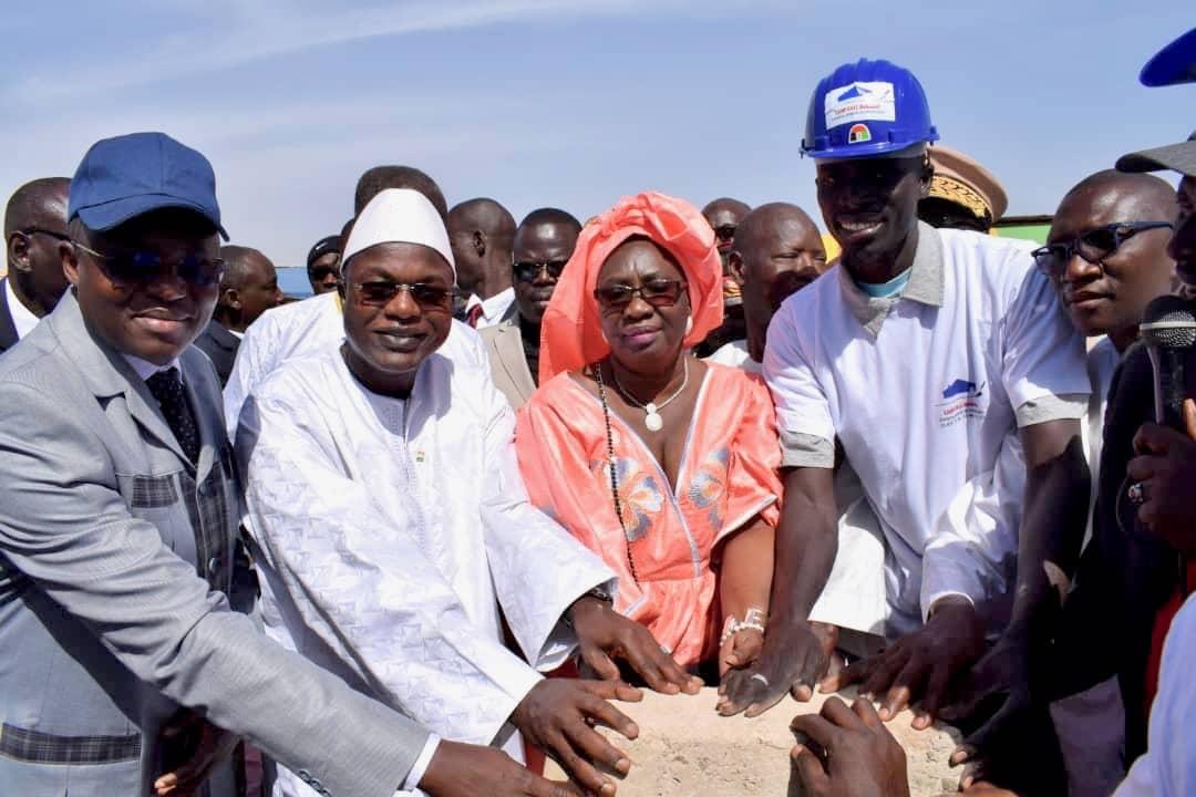 Joal Fadiouth : Pose de la première pierre de l'aire de transformation de Tann par le Ministre Oumar Guèye