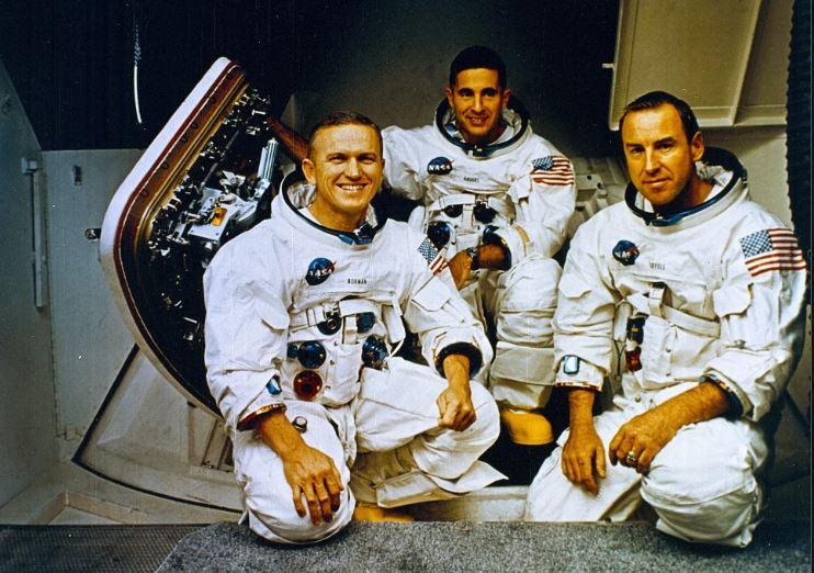 La mission Apollo 8 a 50 ans : 21 décembre 1968- 27 décembre 1968.