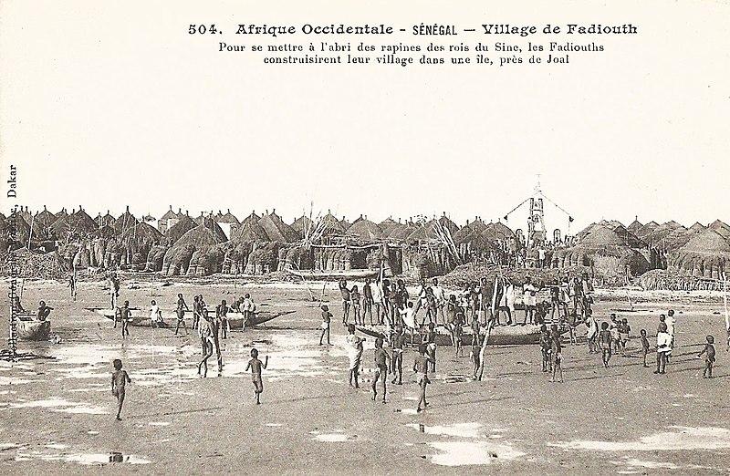 Carte postale - Sénégal : Fadiouth dans les temps anciens