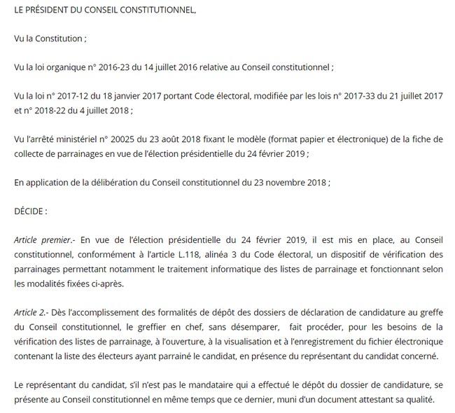Vérification de parrainage : voici comment procède le Conseil constitutionnel