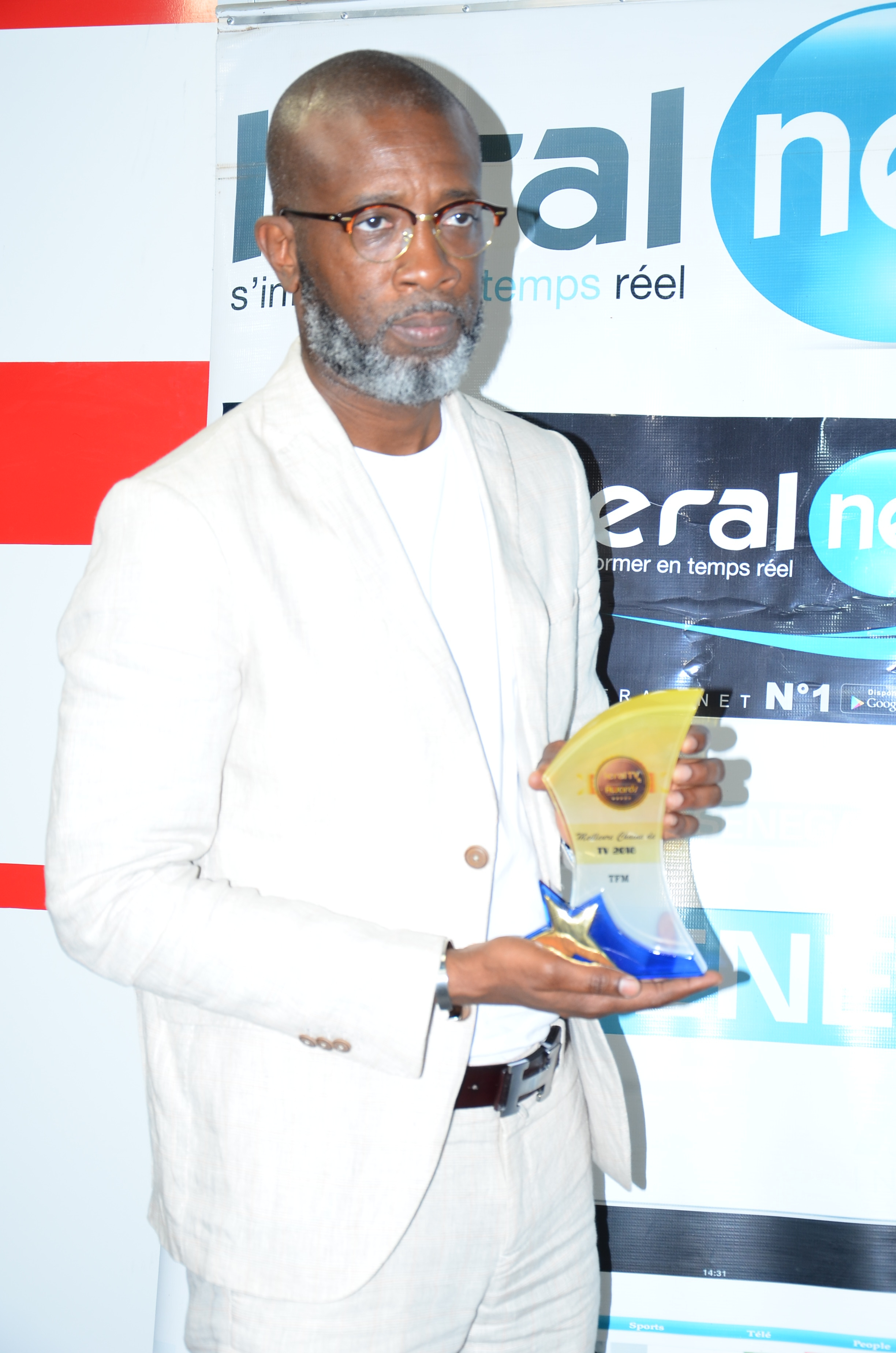 Remise du trophée de la Meilleure Chaîne de Télé de l'année 2018 à la TFM