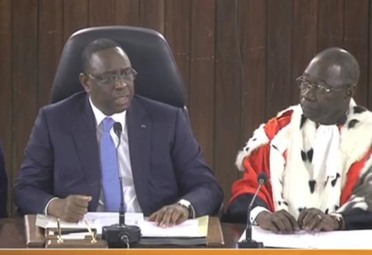 "Macky Sall :""L'Etat prendra toutes les mesures qu'impose la situation pour la défense des magistrats"""
