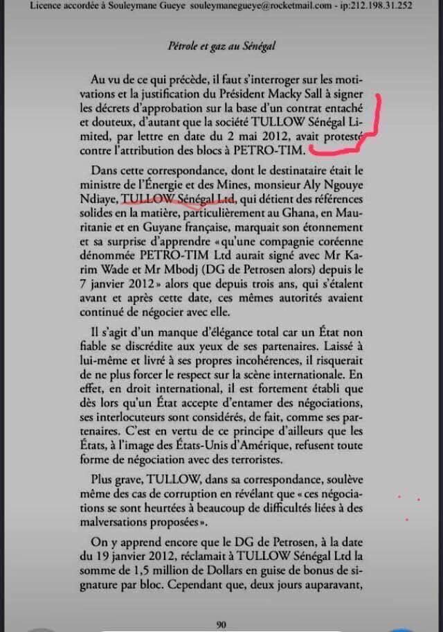 """Ousmane Sonko avait """"défendu"""" Tullow Oil dans son livre """"Pétrole et gaz au Sénégal : Chronique d'une spoliation"""""""