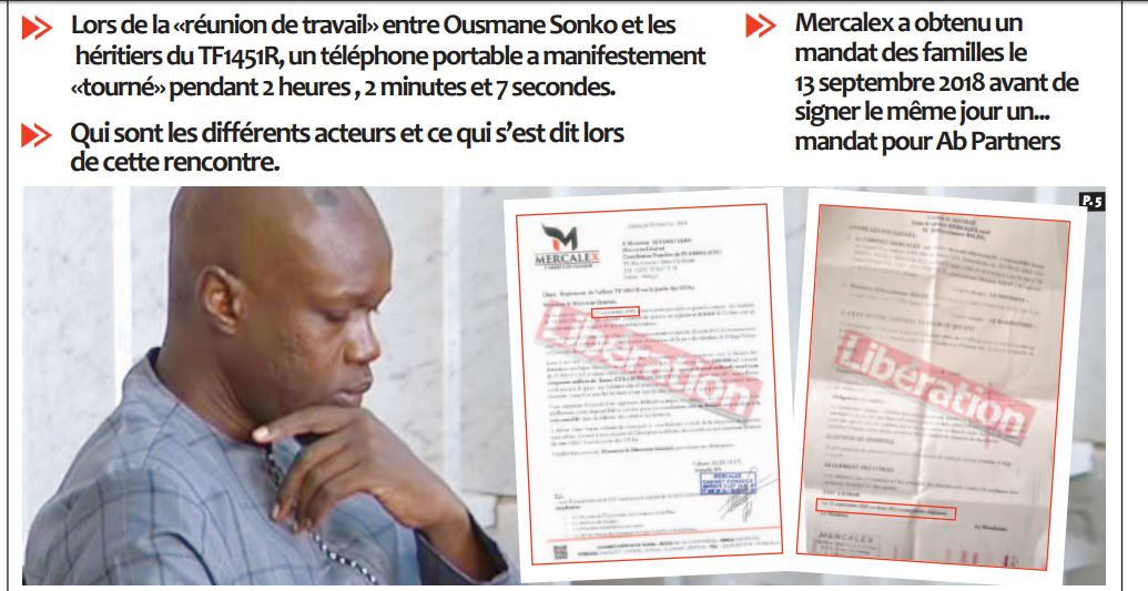 Scandale de 94 milliards FCFA : Un enregistrement dévastateur de la «réunion de travail» entre Ousmane Sonko et les héritiers du TF1451R
