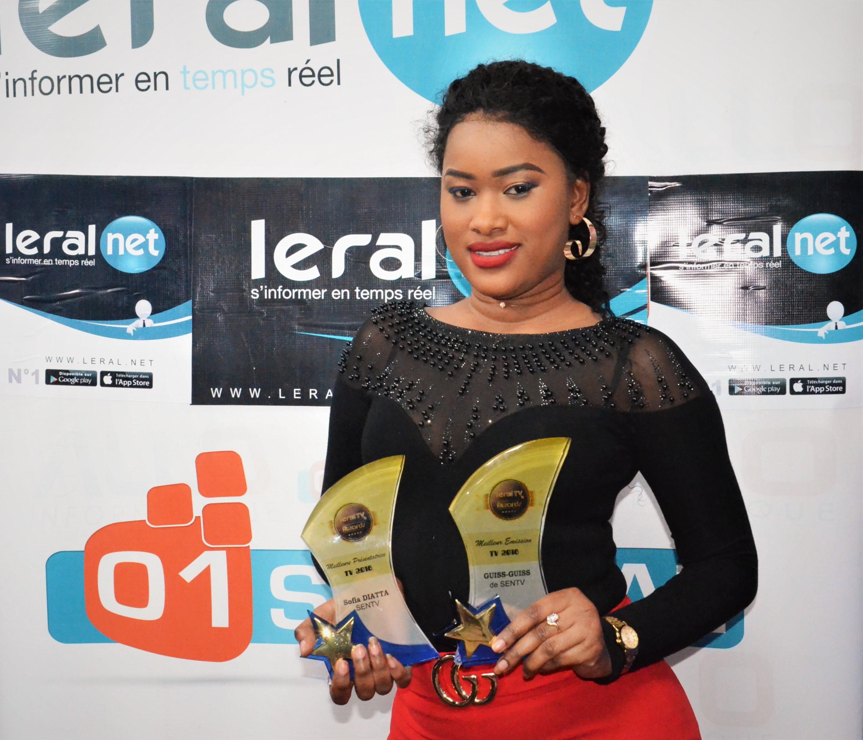 """La Sentv remporte deux trophées aux Leral Awards : Safia Diatta, """"Meilleure Présentatrice"""", Guiss-Guiss, """"Meilleure émission"""""""