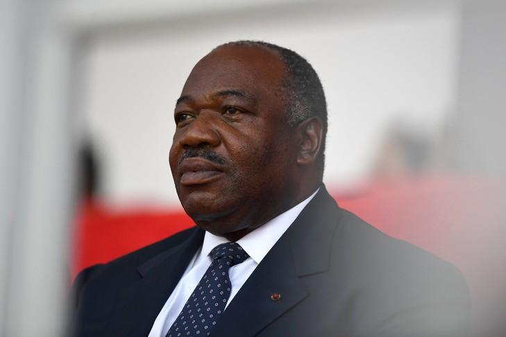 Le président gabonais Ali Bongo Ondimba, lors d'une cérémonie le 5 février 2017 à Libreville. / AFP/Archives