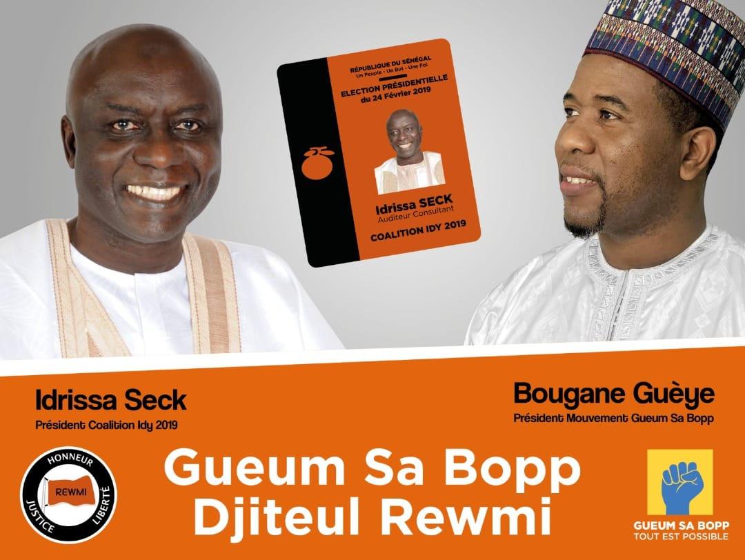 C'est décidé ! Gueum Sa Bopp soutient la candidature d'Idrissa Seck.