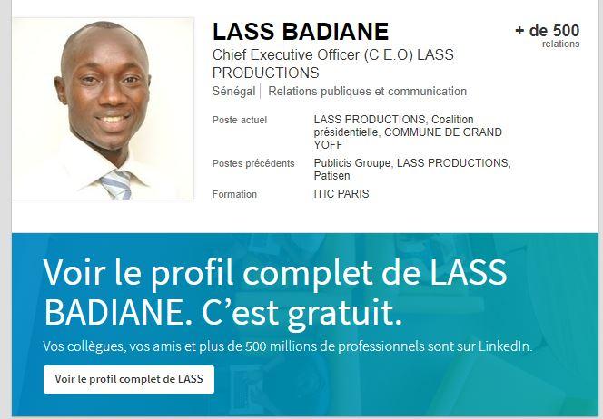 Lansana Badiane, « l'escroc virtuel » qui fait trembler les régies publicitaires de Dakar.