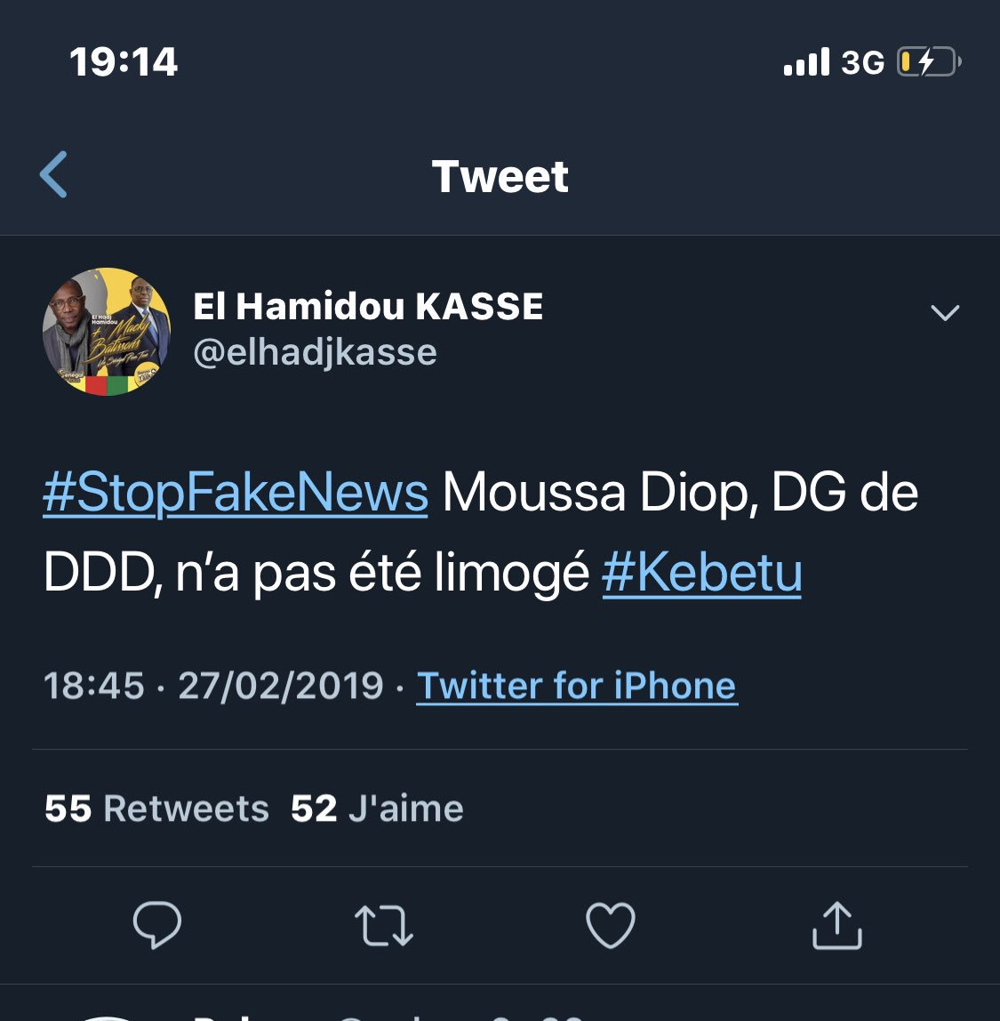 Urgent- Limogeage de Me Moussa Diop : Le Palais dément