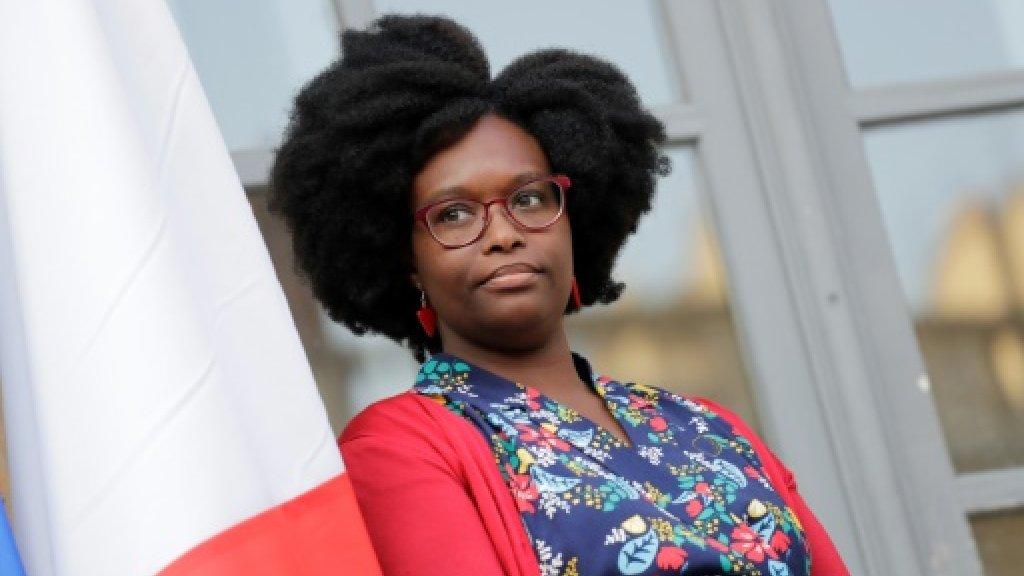 Sibeth Ndiaye lors de la cérémonie de passation de pouvoirs, le 1er avril 2019 à l'Elysée Sibeth Ndiaye lors de la cérémonie de passation de pouvoirs, le 1er avril 2019 à l'Elysée AFP