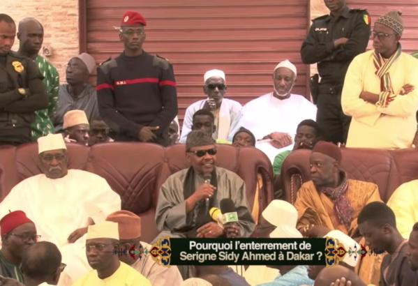 Serigne Pape Malick Sy révèle pourquoi Serigne Ahmed Sy a été inhumé à Yoff (vidéo)