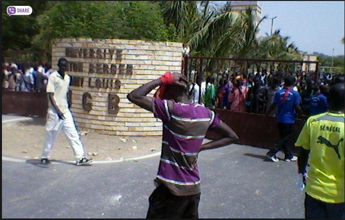 Ugb : Affrontements entre  étudiants et forces de l'ordre, le Rectorat vandalisé