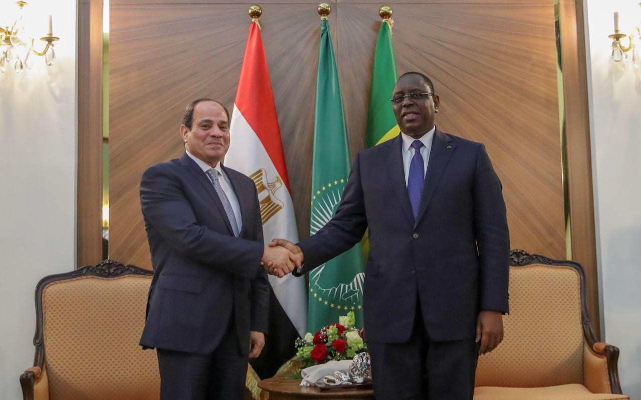 PHOTOS - Rencontre avec S.E. Abdel Fattah Al-Sissi au Palais de la République suivie d'un dîner de travail