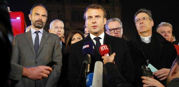Notre-Dame de Paris: «Nous la rebâtirons», promet Emmanuel Macron