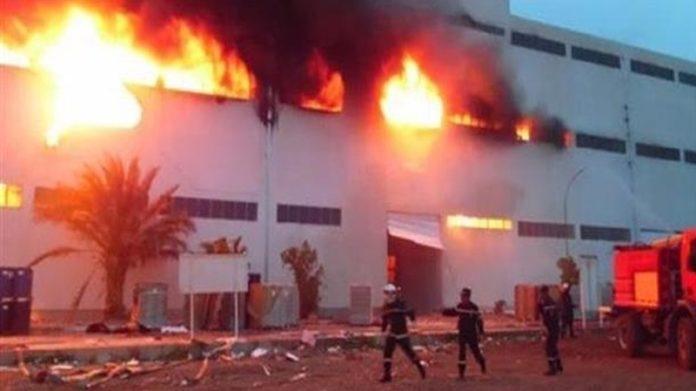 Rufisque: Incendie à l'usine de recyclage de plastiques de Keur Ndiaye Lô