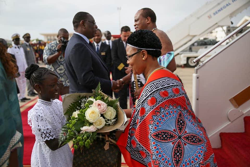 PHOTOS - Arrivée de Sa Majesté Mswati III au Sénégal