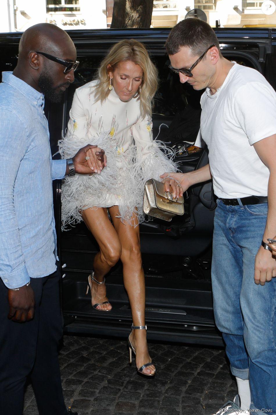 PHOTOS - Céline Dion : Angélique à Paris, avec Gwyneth Paltrow et Louise Bourgoin