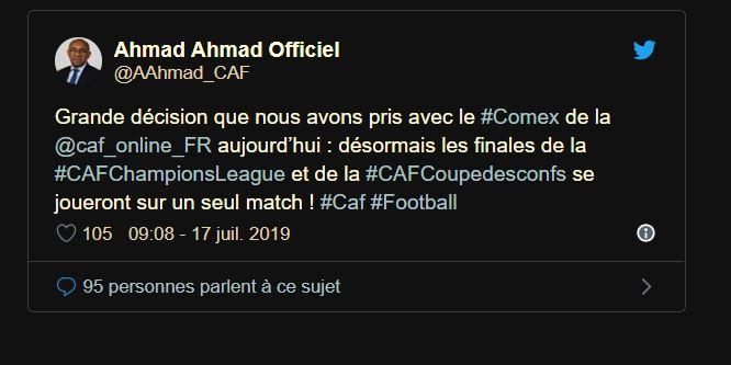 Football: Nouvelle décision de la Caf concernant les compétitions africaines